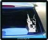 Стикер на авто Доберман